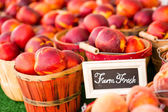 Fresh produce peach — Stock Photo