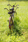 Old tandem bicycle — Stock Photo