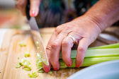 Homemade salad celery — Stock Photo