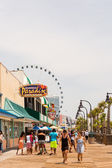 Boardwalk in Myrtle Beach SkyWheel — Stock Photo