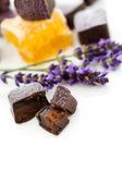 Honey lavender truffles — Stock Photo