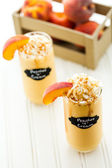 Peaches and cream cold drink — Stock Photo
