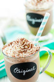 Original cold chocolate drink — Stock Photo