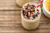 Cafe creme brulee zimny napój — Zdjęcie stockowe