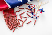 Roll of firecrackers — Stock Photo