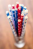 Paper straws close up — Stock Photo