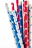Paper straws close up — Stock Photo