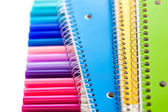 Markers and note books — Stock Photo