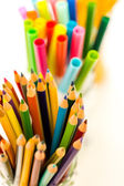 School supplies - pencils and markers — Stock Photo