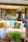 Luxury interior of american living room — Stock Photo