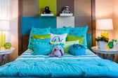 Lyxiga interiören i sovrum — Stockfoto