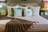 Interior de lujo de dormitorio — Foto de Stock