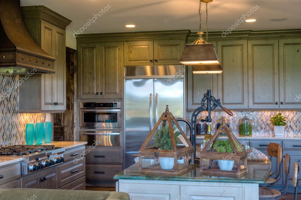 Luxury interior kitchen stock photo urban light - Decoradores de casa ...