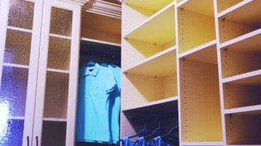 Luxury interior -  wardrobe — Stock Video