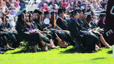 Graduation ceremony at Mapleton Public Schools. — Stock Video