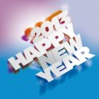 2013: Paper Folding with Letter, Happy New Year — Stock Photo #13619814