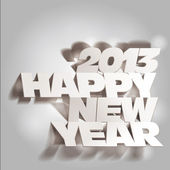 2013: Paper Folding with Letter, Happy New Year — Stock Photo