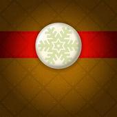 Klassisk stil jul bakgrund. snöflinga-kort. — Stockvektor