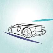 Car Silhouette — Stock Vector