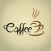 Coffee sign with the title. ideal for cafe menu — Stock Vector
