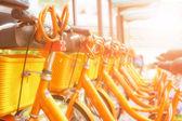 Cykel dela station i Kina — Stockfoto