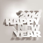 2014: Letter Folding with Paper, Happy New Year — Stock Vector