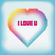Gradient Colorful Heart Halftone Abstract Background — Stock Vector