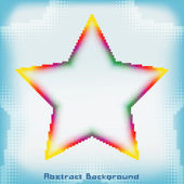 Colorful Abstract Star Background — Stok Vektör