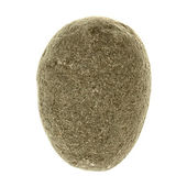 Isolated Pebble Stone (clipped path) — Stock Photo