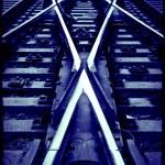 Railway crossroad — Stock Photo #8733732