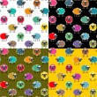 Royalty-Free Stock Vector Image: Colorful Seamless Sheep Pattern