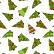 Christmas Trees Seamless Pattern. — Stock Vector
