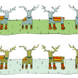 Tileable Reindeer Border — Stock Vector