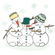 Humorous Winter Snowman — Stock Vector