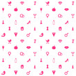Love Symbols Seamless Pattern Background — Stock Vector