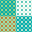Royalty-Free Stock Vector Image: Graphic Flowers Seamless Pattern