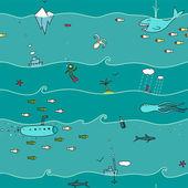 Underwater Seamless Pattern — Stock Vector