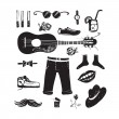 Stock Vector: Hipster Clothing and Accessories Collection
