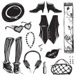 Stock Vector: Hipster WomClothing and Accessories Collection