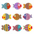 Fish Collection Colorful Graphic Cartoon — Stock Vector #29044185