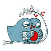 Birds in Love — Vector de stock