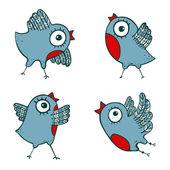 Vögel gruppe — Stockvektor