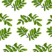 Rhombic Leaves Seamless Pattern — Stock Vector
