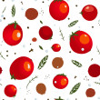 Rad Canned Spicy Tomato Seamless Pattern — Stock Vector