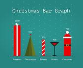 Christmas Holiday Statistics Infographics Template — Stock Vector