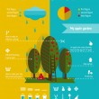 Growing Apple Garden Infographics Elements — Stock vektor