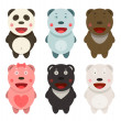 Kawaii Bears Collection — Stockvektor  #42817459