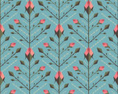 Graphic Roses Pattern Background — Wektor stockowy