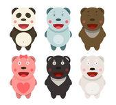 Kawaii björnar samling — Stockvektor