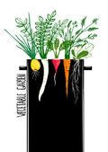 Grow Vegetable Garden and Cook Soup — Stock Vector